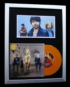 BIFFY-CLYRO-SIGNED-FRAMED-SATURDAY-BIBLICAL-100-AUTHENTIC-EXPRESS-GLOBAL-SHIP