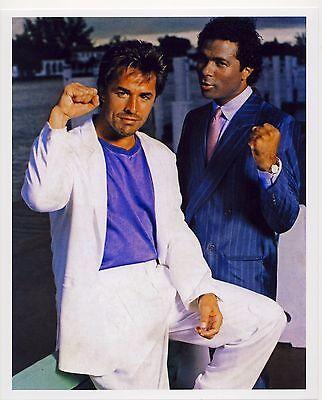 Don Johnson Miami Vice Philip Michael Thomas  8x10 Photo Color
