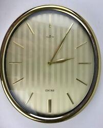 "Vintage 11"" x 9.75"" x 1.5"" Seiko Quartz Wall Clock Large Display - Works 1980's"