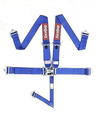 Blue Racequip 5 point Racing Harness Seat Belts 711021 CURRENT SFI DATES Razor 5 Point Harness Seat Belts