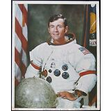 Apollo 16 Commander John Young Signed Vintage WSS NASA Lithograph Authenticated