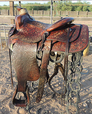 Older Custom Made Saddle - Amazing Quality - Porterville California - RARE Find!