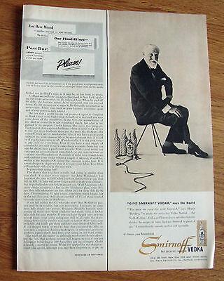 1953 Smirnoff Vodka Ad   Monty Woolley