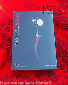 BLACK RED Monster Beats by Dr Dre Tour In-Ear Headphones Earphones Earbuds