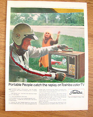 1968 Toshiba TV Television Ad  Portable People