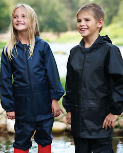 Regatta-Kids-Children-Unisex-Stormbreak-Jacket-Trouser-Suit-100-Waterproof