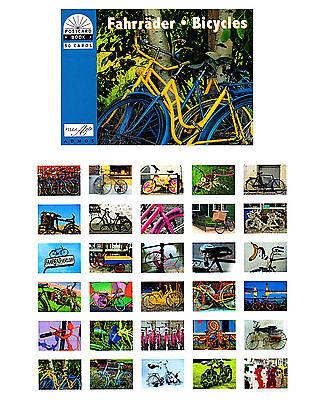 Geschenk Postkartenbuch Fahrräder 30  Postkarten  NEU!