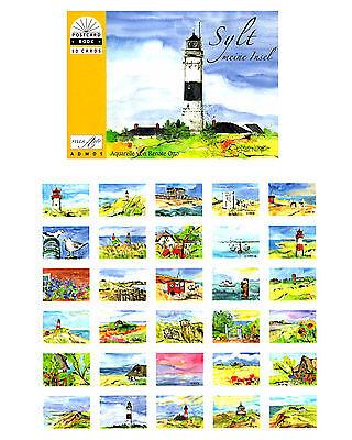 Postkartenbuch Sylt Aquarelle 30 Kunst Postkarten von Renate Otto NEU!