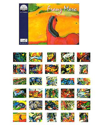 Postkartenbuch Franz Marc 30 Kunst Postkarten NEU!