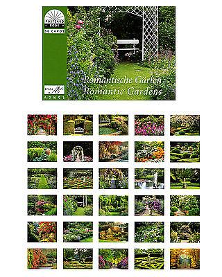 Postkartenbuch Romantische  Gärten / Blumen, Romantik,  30 Postkarten  NEU!