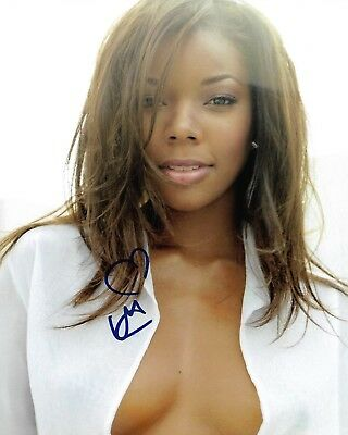 Gabrielle Union Actress Real Hand Signed 8X10  Photo  2 W  Coa Autographed