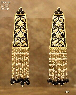 Indian Rajasthani Pakistani HandPainted Meenakari Jadau Jhumki Jhumka Earrings