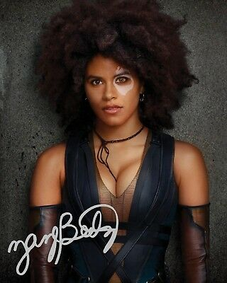 ZAZIE BEETZ (Deadpool) #1 10x8 PRE PRINTED (SIGNED) LAB QUALITY PHOTO - FREE DEL