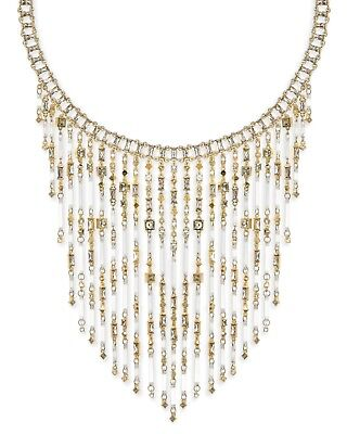 NWT Kendra Scott Maxen Statement Necklace in Gold Smoky Mix