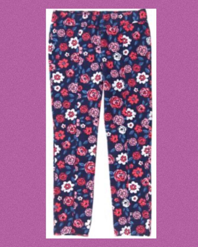 "NWT Girls 5 Gymboree ""BEST IN SHOW"" Cotton/Spandex PONTE Blue Floral Print PANTS"