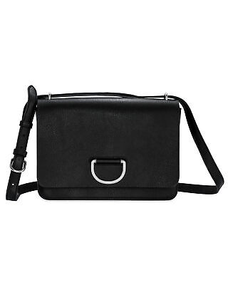 Burberry Medium D-Ring Black & Turquoise Leather Shoulder Handbag 8010350