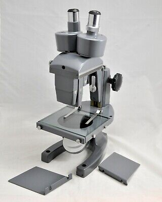 Bausch Lomb Stereo Microscope -outstanding Complete 1953 Vintage Museum Piece
