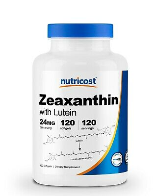 Nutricost Zeaxanthin with Lutein 20mg, 120 Softgels