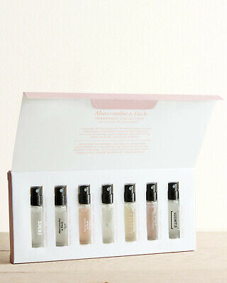 Abercrombie & Fitch PERFUME DISCOVERY SET 7 Fragrance Samples ELLWOOD, Fierce
