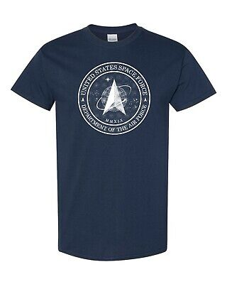 United States Space Force Department Air Force Flag Design Men's Tee Shirt 705