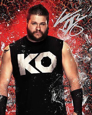 KEVIN OWENS #1 (WWE) - 10X8 PRE PRINTED LAB QUALITY PHOTO (SIGNED) (REPRINT)