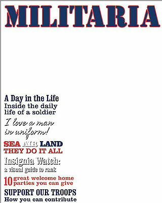 MILITARIA Magazine Cover (1) Transparency Sheet scrapbooking SOLDIER LIFE (Magazine Cover Transparency)