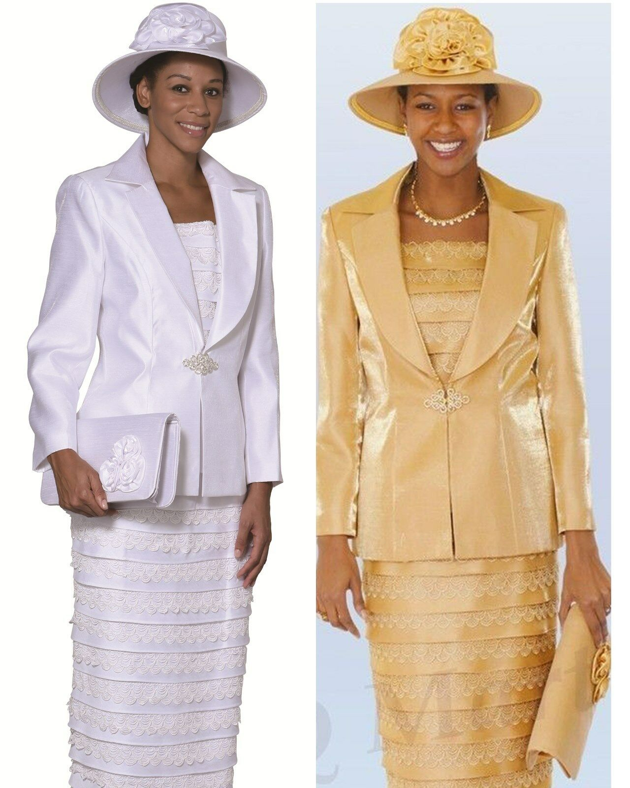 New lynda's Lady Women Dress /Church Suits 3 piece set ...
