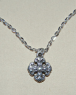 New BRIGHTON Eternity Cross FRENCH CROSS charm custom necklace FREE SHIPPING !!  - Custom Necklace Charms