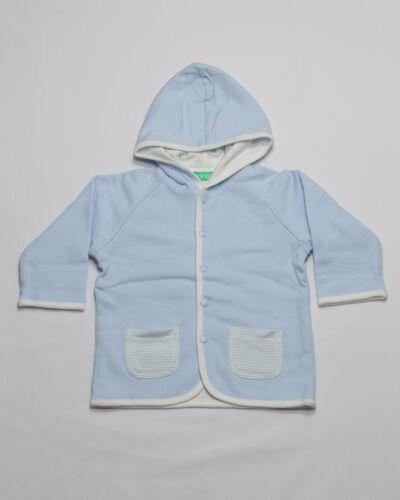 Boys Blue Tingo Organic Cotton Hooded Double-Layered Jackets (sz  6-9m 9-12m 12-