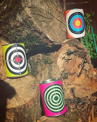 Metal Shooting Target Tin Cans For BB Nerf Pellet Gun Tin Can Alley, used for sale  Cardiff