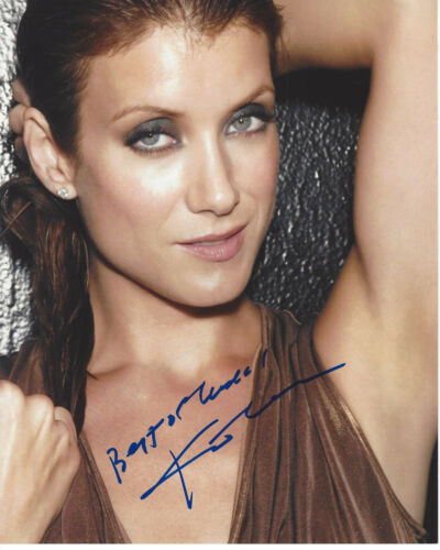 SEXY ACTRESS KATE WALSH SIGNED AUTHENTIC 8X10 PHOTO w/COA GREY'S ANATOMY
