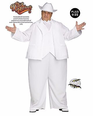 New Boss Hogg White Suit Dukes Of Hazzard Adult Mens Plus Size Halloween Costume (White Suit Costume)