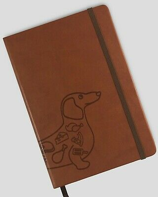 Miliko A5 Pu Leather Banded Hardcover Dot Grid Notebook Dachshund