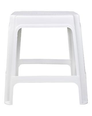 Hocker Sitzhocker Badhocker Gartenhocker Kunststoffhocker stapelbar weiß