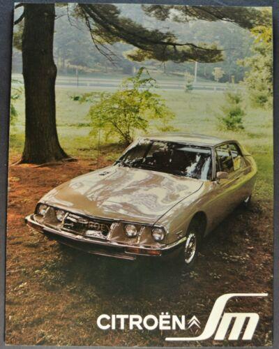 1972 Citroen SM Brochure Folder Maserati Gran Turismo Coupe Excellent Original