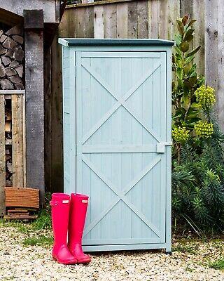 Small Garden Storage Wooden Shed Sage