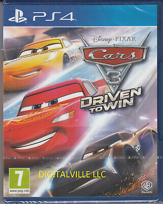 Cars 3 Driven to Win PS4 PlayStation 4 Brand New Factory Sealed Disney Pixar