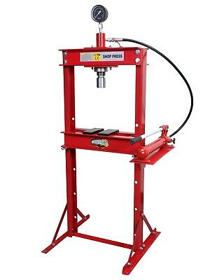 (Hydraulic Shop H Frame Press 12 ton Woodward-Fab PR103 Floor Model)