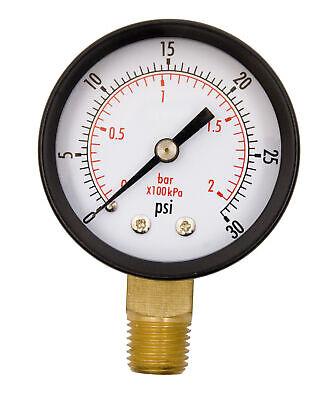 2 Utility Pressure Gauge - 14 Npt Lwr Mount 30psi Gsad2012-030upd