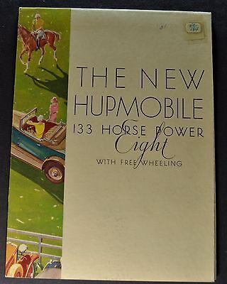 1931 Hupmobile 133 Horse Power Eight 8 Sales Brochure Folder Nice Original 31