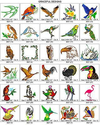2800 BIRDS, BIRDHOUSES & EXTRAS BROTHER EMBROIDERY MACHINE DESIGN COLLECTION -