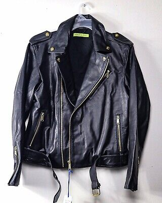 Versace Leather Jacket - New With Tags - Men's Size 52/XL (100% Authentic)