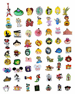 Disney Pin Trading 25 Girl Assorted Pin Lot - NEW Pins - No Doubles - Tradeable
