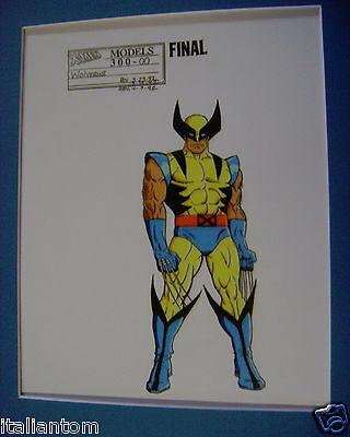 MATTED X-MEN X-MAN WOLVERINE COMICS CEL ANIMATION ART CELL