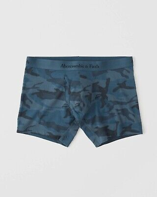 New Abercrombie & Fitch Mens Underwear Boxer Brief/ Navy Camo Size M