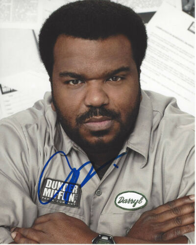 CRAIG ROBINSON SIGNED AUTHENTIC 'THE OFFICE' DARRYL 8X10 PHOTO D w/COA ACTOR