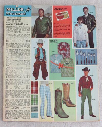 Miller Stockman Catalog 161 Winter 1969 Saddles Ranchwear Western Wear Cowboy