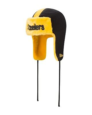 Pittsburgh Steelers New Era HELMET HEAD TRAPPER Knit Hat ](Steelers New Helmet)