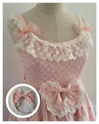 BABY,THE STARS SHINE BRIGHT BTSSB Jumper Dress & Headbow SET Pink Lace #16037