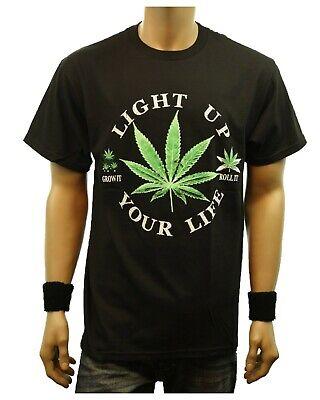Weed Marijuana LIGHT UP YOUR LIFE Printed Graphic T-Shirt Fashion Urban Tee](Light Up Tee Shirt)